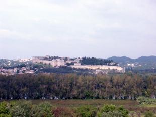 Villeneuve-les-Avignon seen from the city