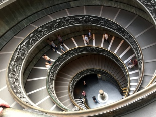 """1932 """"Bramante Staircase"""" formed by a double helix"""
