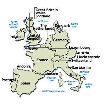 Map of Western Europe Final